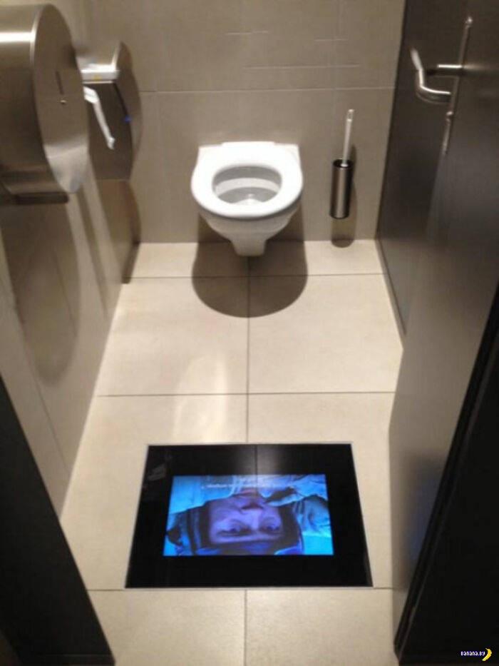 Гениальные решения в общественных туалетах