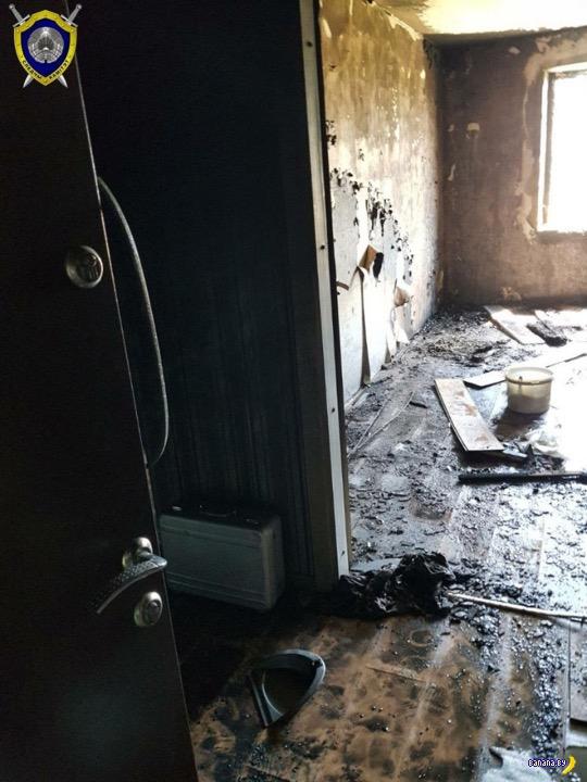 Поссорился с женой и поджог квартиру