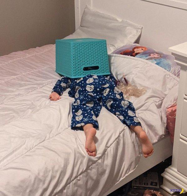 Дети спят где попало