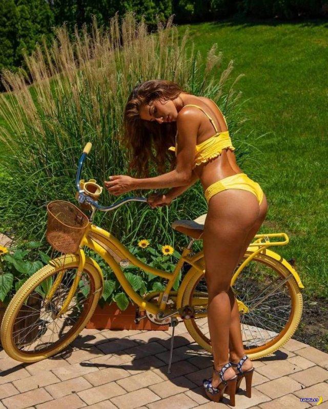 Сексуальные велосипедистки - 5