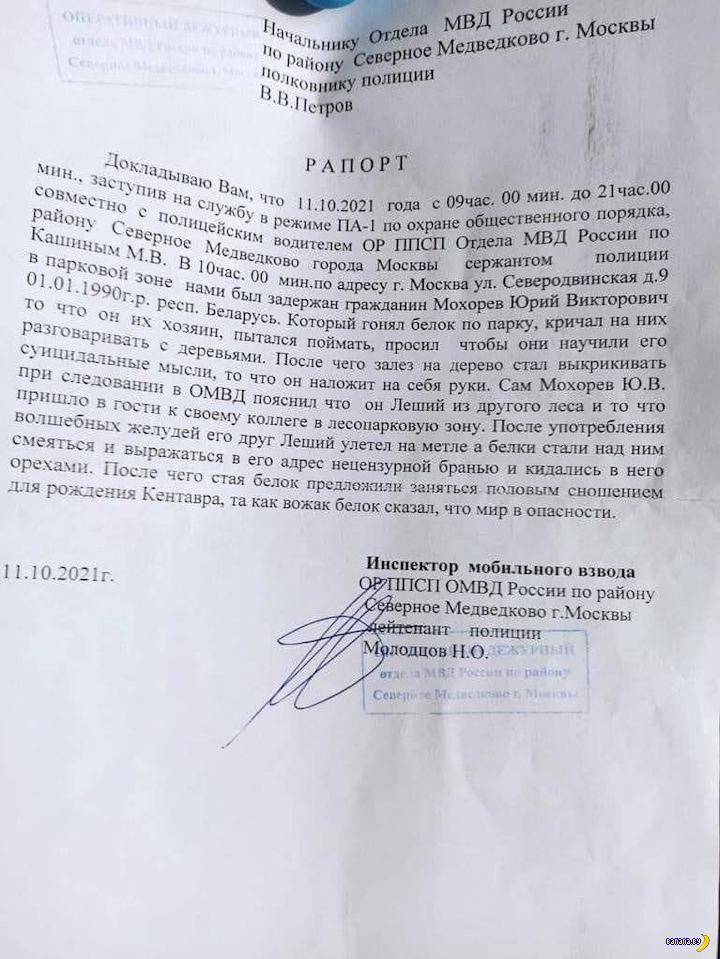 Белорусский Леший гонял белок в Москве