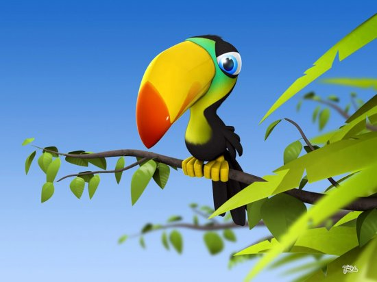Funny 3D Animals Wallpapers.