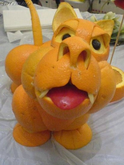 Что выйдет, если взять много апельсинов и включить фантазию ( 8 фото )