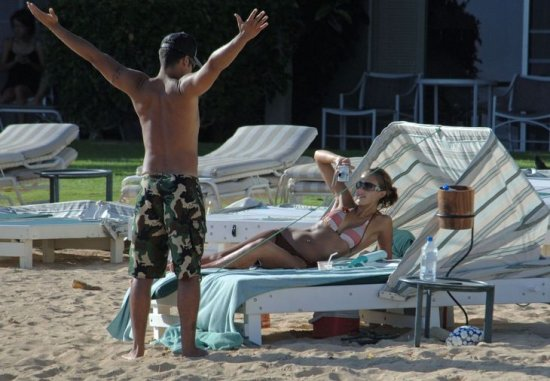 Джесика Альба на пляже