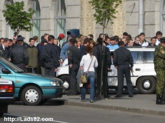 Футбольные хулиганы в Минске