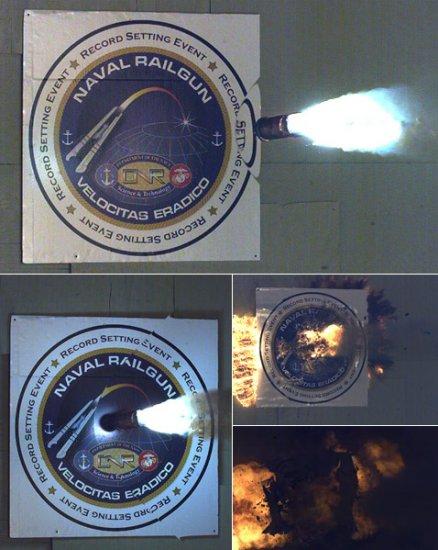 ВМФ США провели испытание рельсовой электромагнитной пушки