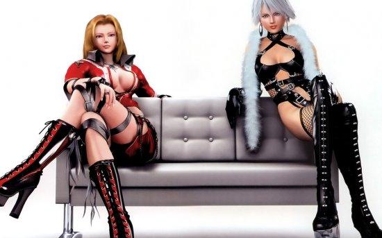 Игрушковые девушки на обоях