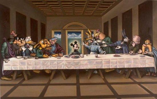 Таяная вечеря с современными реалиями.