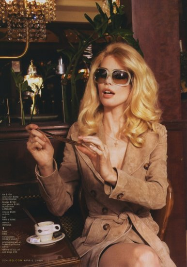 Клаудия Шиффер (Claudia Schiffer) в журнале GQ