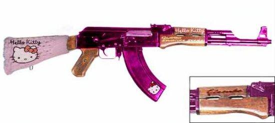 АК-47  для блондинки