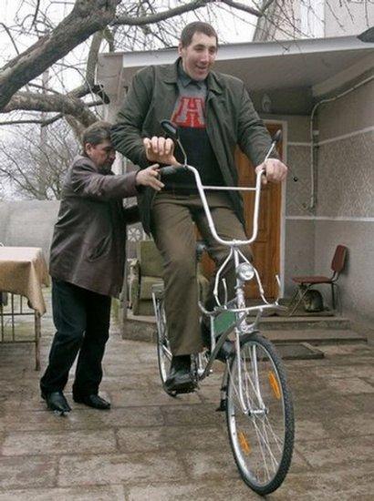 Новый велосипед для великана