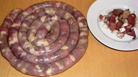 Домашние колбаски + крупеник