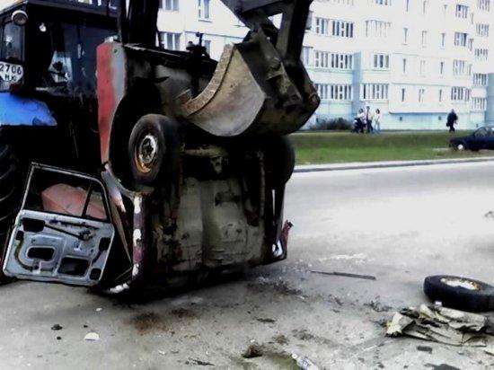 Жорсткае забойства трактарам Беларус((