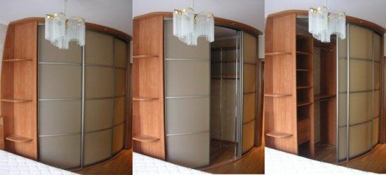 Радиусные шкафы-купе и перегородки