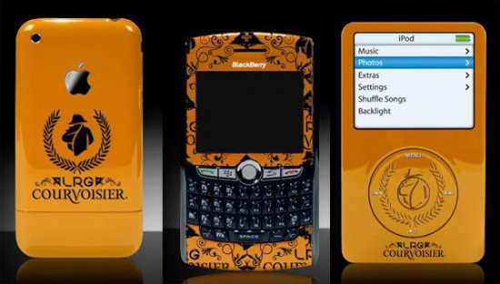 iPhone, iPod и Blackberry с дизайном от Courvoisier