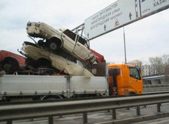 Опасная перевозка (3 фото)