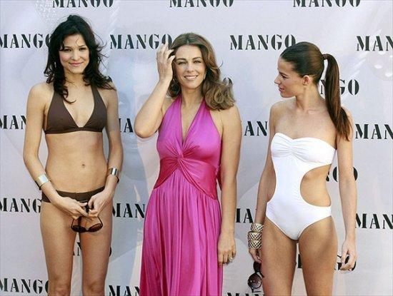 Лиз Херли для весенней коллекции купальников Mango