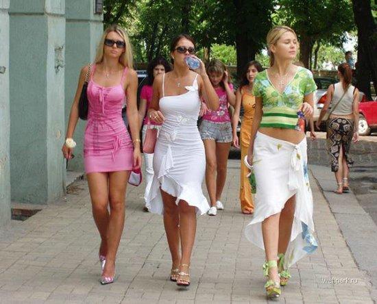 Много разных девушек