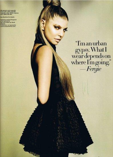 Fergie в майском номере Harper's Bazaar Singapore