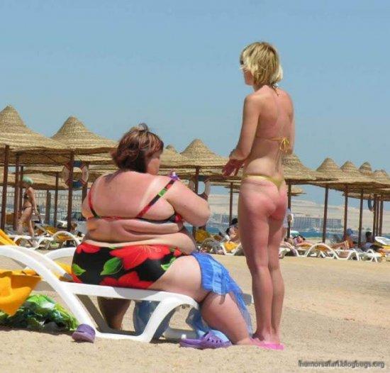 Толстушечки на пляже
