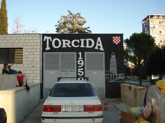 Грффити фанатов Хайдук Сплит (Хорватия)