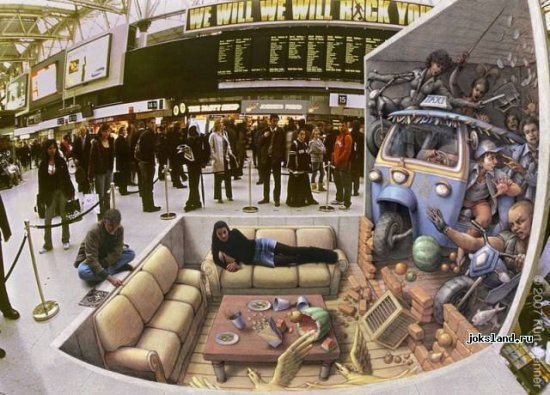 3-D иллюзии (Kurt Wenner)