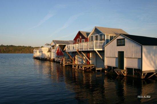Водоплавающие домики и домики на воде