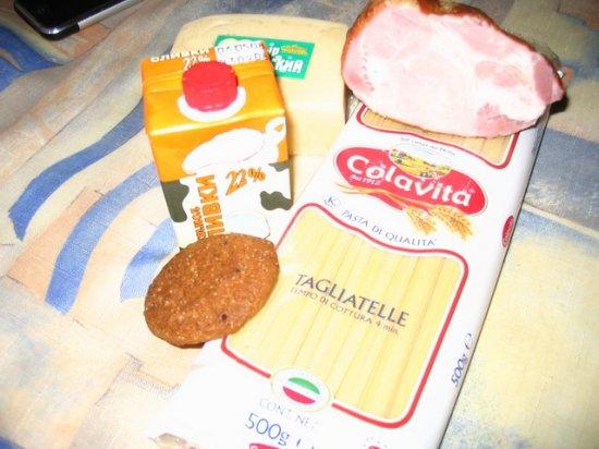 Тальятелле cо сливочно-сырным соусом