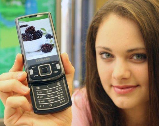 Слайдер Samsung INNOV8 i8510 со множеством функций и камерой 8 Мп