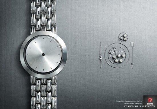 Реклама часов. Время и жизнь