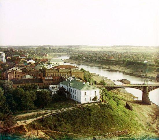 Каляровыя фота беларускiх гарадоў Расейскай Iмпэрыі 1905-15
