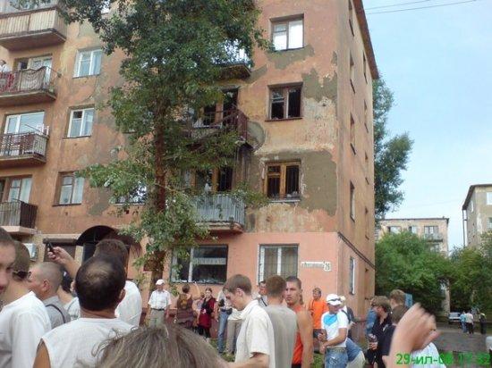 Прорыв в Омске (4 фотографии + видео)