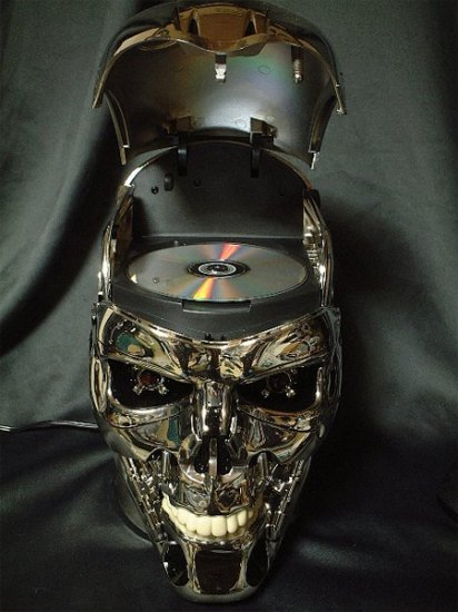 The Terminator Skull DVD Player