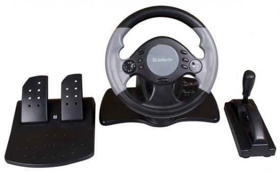 Игровой руль Defender Extreme Turbo: на стол можно не крепить