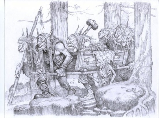 Larry MacDougall - Black/Folk Art