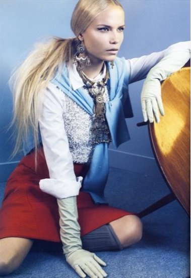Наташа Поли (Natasha Poly), i-D Magazine октябрь 2008