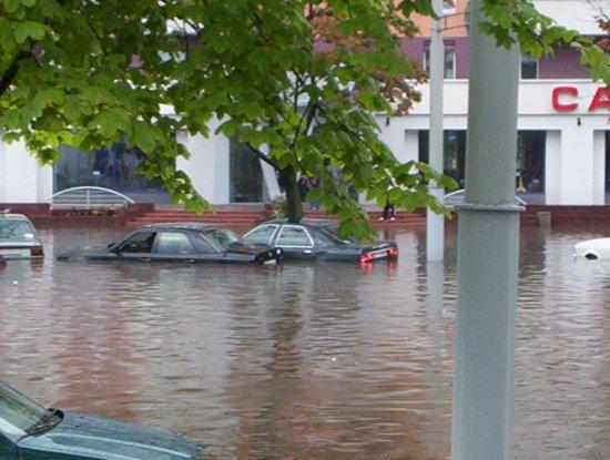 Потоп в Минске (25.07.2004)