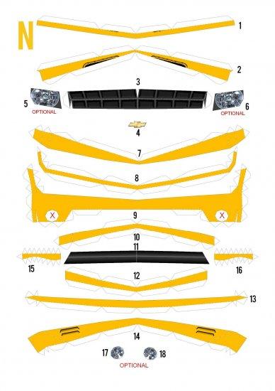 Camaro 2009 из бумаги