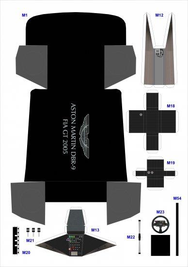 Aston Martin DBR-9 из бумаги