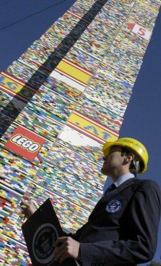 Самая высокая в мире башня из конструктора Lego