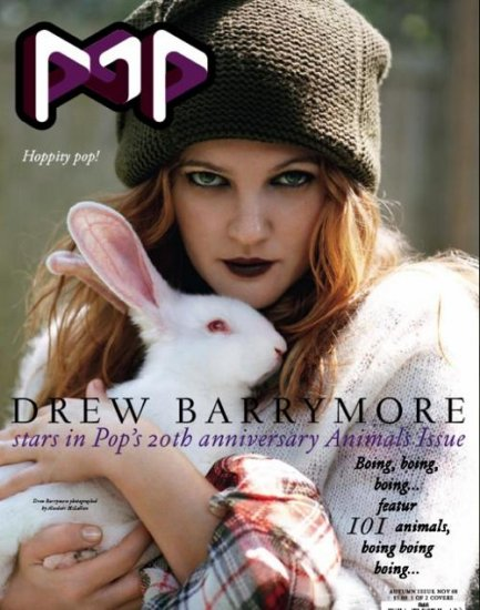 Дрю Бэрримор (Drew Barrymore), POP и Harper's Bazaar
