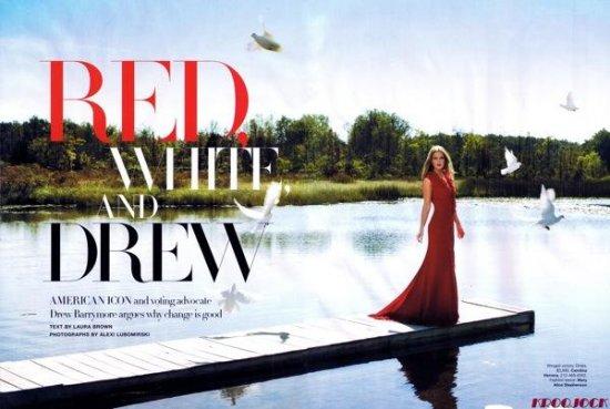 Дрю Бэрримор (Drew Barrymore), POP и Harper's Bazaar