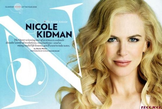 Николь Кидман (Nicole Kidman) на обложке декабрьского номера журнала Glamour.