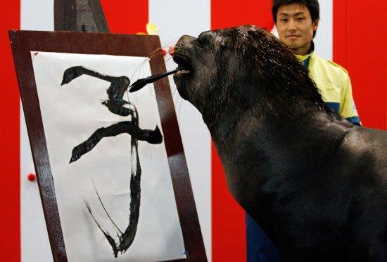 Животные тоже рисуют