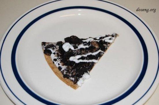 Пицца со вкусом шоколада и сливок