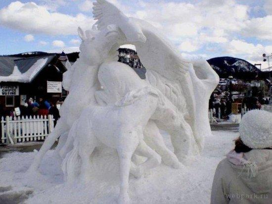 Снежные скульптуры