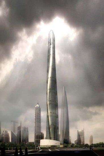 Shanghai Tower – проект самого высокого небоскреба Китая