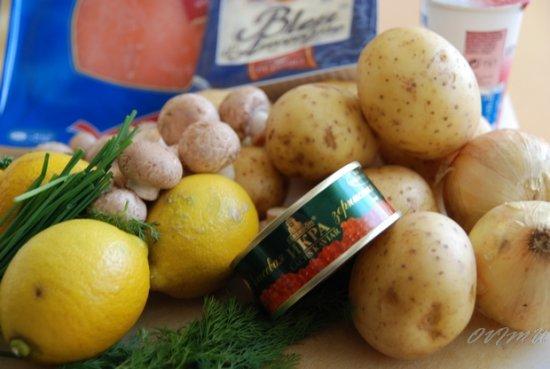 Новый год. Картофельные сундучки
