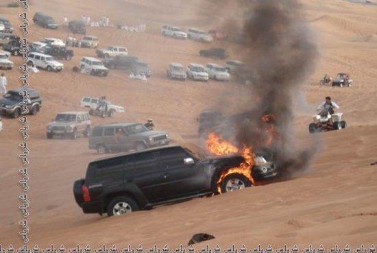 Как тушили джип в пустыне