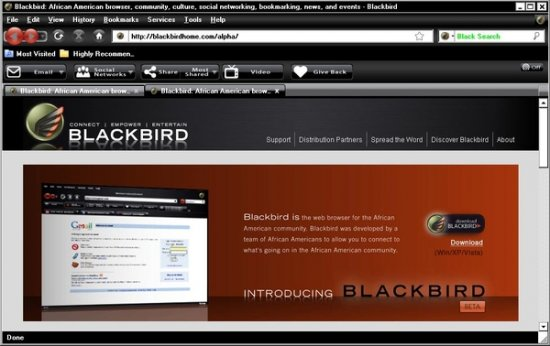 Blackbird Web Browser